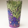 Emily Squires Levine: Purple Vase with Green Grass