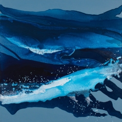 Linda Celestian: Ocean Blues (painting)