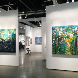Enzhao Liu: Installation of Nocturne No. 2 and Rousseau's Garden 1
