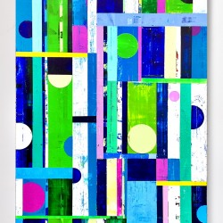 Louis Mario Gribaudo: Circles - Rectangles - Blue, Green, White, Violet