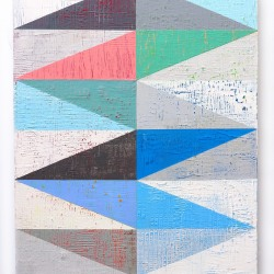 Louis Mario Gribaudo: 24 Right Triangles - Grey - Blue - Pink - Green