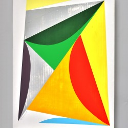 Louis Mario Gribaudo: Triangles & Arcs - Yellow - Orange - Green