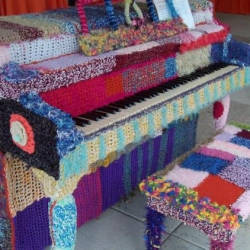Melissa Maddonni Haims: Yarn Bombed Piano