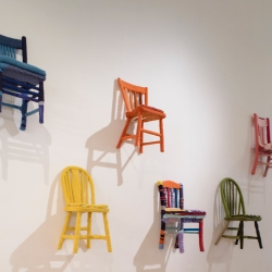 Melissa Maddonni Haims: Yarn Bombed Chairs