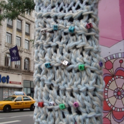 Melissa Maddonni Haims: Knit, Play, Love: Knit Grafitti - New York City, detail