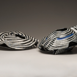 Diane Marimow: 2 Striped Mollusks (side view)