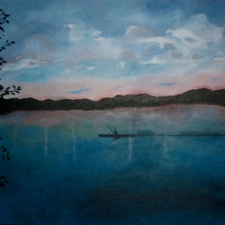 Mary Powers Holt: Evening Kayak