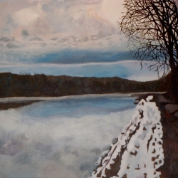 Mary Powers Holt: White Lake meets Winter Sky