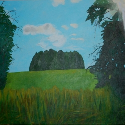 Mary Powers Holt: Afternoon Light on the Hill