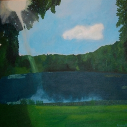 Mary Powers Holt: Afternoon Light on the Pond