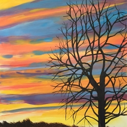 Mary Powers Holt: Autumn Evening Prism