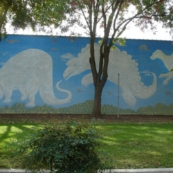 Jeannie Moberly: Animal Heaven mural project