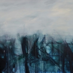 Jaimee Newman: Blue Abstract