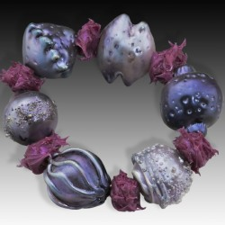 Patti Dougherty: Purple Bubble Bracelet