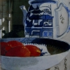 Christina Penrose: Roma Tomatoes in Blue and White