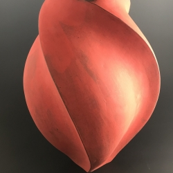 Peter Cunicelli: Round Red Vase