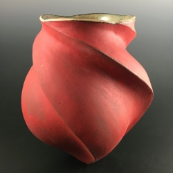 Peter Cunicelli: Wide Red Vase