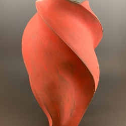 Peter Cunicelli: Tall Red Vase