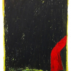 Dolores Poacelli: Oilstick 10 - red shape