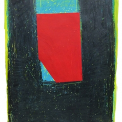 Dolores Poacelli: Oilstick 16 - red shape 2