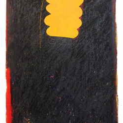 Dolores Poacelli: Oilstick 7 - yellow shape