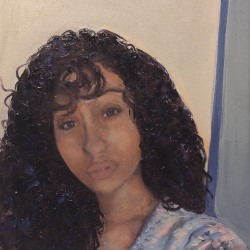 Portable Disko: Portrait of Whitney with Curly Hair