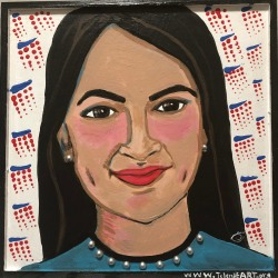 Selene Nunez-Cruz: Portrait of AOC