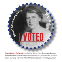 Pamela Hovland: I VOTED, Grace Knight Schenck