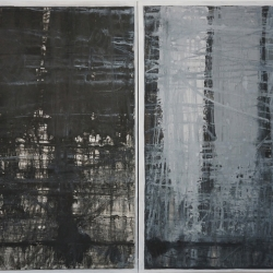 Rob Solomon: abstract diptych 1a2