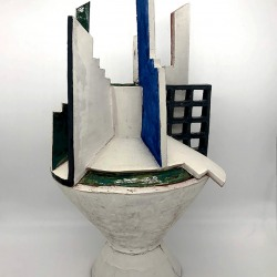 Roberta Massuch: Vase with Collared Lid