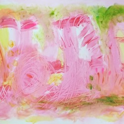 Stephanie Rogers: Pink Horse in the Grass