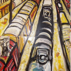 Marta Sanchez: Vertical Train Yard