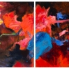 Sandra Benhaim: Shadowed 2 and 3 Diptych