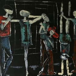 Barbara Shelly: Dancers on the Subway 2