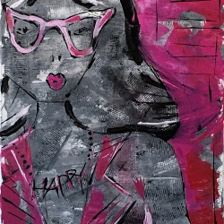 Barbara Shelly: Happy Necklace in Pink