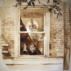 Alice Thompson: Girard Avenue Windows, Study
