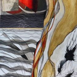 Trish Thompson: Red Wedge and Grey Water