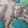 Heather Ujiie: Rhinoceros, detail
