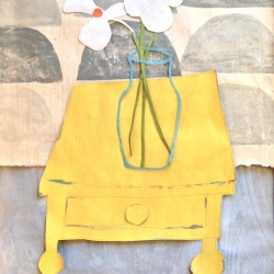 Valerie Coursen: NARCISSUS ON YELLOW TABLE