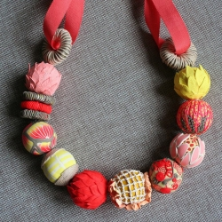 Veeruschka Stevens: Grapefruit Party Necklace