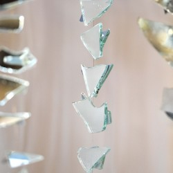 Summer Yates: Mirror Mobile Installation (detail of single Mobile)