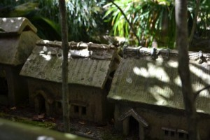 This in a miniture model of some old style houses in Seto