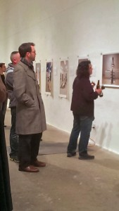Opening night crowds take in Richard Ross's photographs in the Icebox project space.