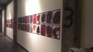"Mat Tomezsko's ""There Is No"" series in the hall."