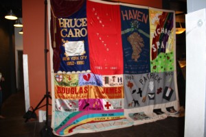 Photo of the AIDS Quilt at last year's Art for the Cash Poor.