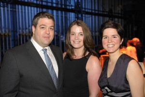 Grand Season Finale Gala in May 2014. Marija is on the right and is pictured with Dean Vetsikas, left, vice chairman of the Crescendo Club Steering Committee, and Julia Vetsikas, center. (Credit: David DeBalko)