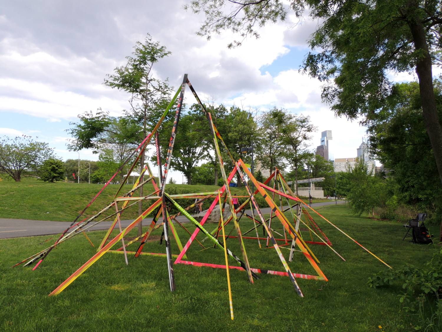 Tyler Kline's outdoor installation from Art in the Open
