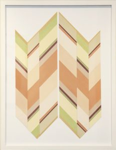"""Mallary Johnson, """"Re-Collect III."""" Plant extracts on woven paper 34 3/4 × 27 1/2 in"""