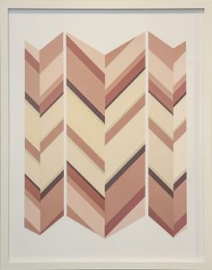 """Mallary Johnson, """"Re-Collect I."""" Plant extracts on woven paper 34 3/4 × 27 1/2 in"""