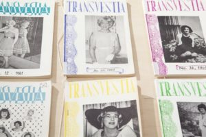 Copies of Transvestia, photo by Marget Long, courtesy The Cooper Union.